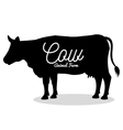 cow animal farm ico vector image vector image