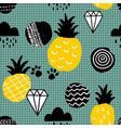 creative seamles pattern in scandinavian style vector image