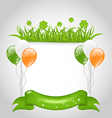 cute nature background for St Patricks Day vector image vector image
