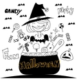 Cute Witch Halloween with hand draw vector image