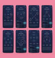 different ui ux gui screens and flat web icons vector image vector image