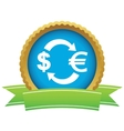 Dollar euro exchange certificate icon vector image vector image