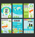 ecology earth day poster template set vector image vector image