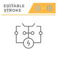 electrical scheme line icon vector image vector image