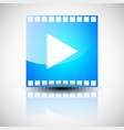 film strip film frame with play button multimedia vector image