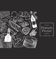 french food design template hand drawn picnic vector image vector image