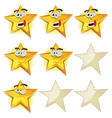 funny stars icons for ui game score vector image vector image
