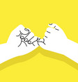 hand promise sign concept vector image vector image