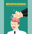 hand wash and cleaning businessman brain vector image vector image
