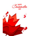 Happy canada day holiday poster