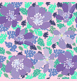 herbs and flowers pattern texture on pink vector image vector image