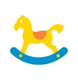 Horse toy flat icon vector image vector image