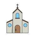 Isolated church building design vector image vector image