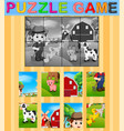 jigsaw puzzle education game vector image vector image