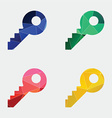 key icon Abstract Triangle vector image vector image
