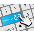 Keyboard Contact Us button with mouse hand cursor