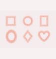 luxury pink gold frames set on pink background vector image vector image
