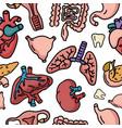medicine human organs cartoon doodle icons vector image vector image