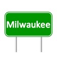 Milwaukee green road sign vector image vector image