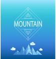 Mountain emblem vector image vector image
