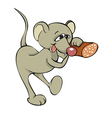 mouse with sausage vector image vector image