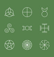 pagan ancient symbols mystery sacred icons vector image vector image