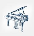 piano sketch line design vector image vector image