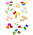 Pills on white background vector image