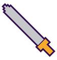 pixel sword weapon warrior battle vector image