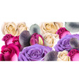 purple roses bouquet watercolor mother day vector image vector image