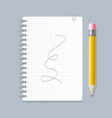 realistic 3d detailed notebook lined spiral and vector image