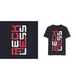 reckless youth graphic modern t-shirt vector image vector image