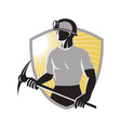 Retro Coal Miner vector image vector image