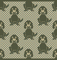 seamless pattern with a sitting dog and polka vector image vector image
