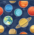 seamless pattern with solar system planets vector image