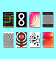 set of various poster geometric design vector image vector image