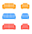 set sofas and armchairs vector image