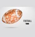 silhouette of a footballl ball vector image vector image