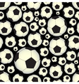 soccer and football balls dark seamless pattern vector image