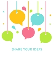 Speech Bubbles Hanging on Strings Communication vector image vector image