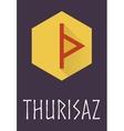 Thurisaz rune of Elder Futhark in trend flat style vector image vector image