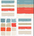 torn paper colorful collection vector image vector image