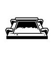 vintage screen printing silkscreen concept vector image vector image