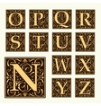 Vintage set capital letters Monograms and font vector image
