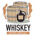 whiskey extra special production alcohol vector image