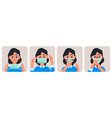 woman with medical mask virus protection concept vector image