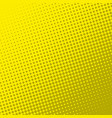 yellow retro comic book page background halftone vector image vector image