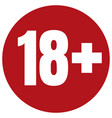 limit age icon on red background icons age limit vector image