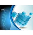 Tech business design composition vector image