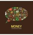 money communication bubble vector image